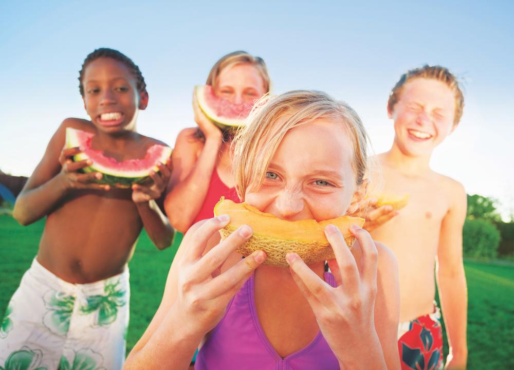 Portrait_Kids Eating Melon